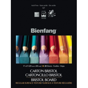 "Bienfang® 11 x 14 Vellum Finish White Drawing Bristol Board Pads: Vellum, Pad, 20 Sheets, 11"" x 14"", 146 lb, (model 527K-130), price per 20 Sheets pad"