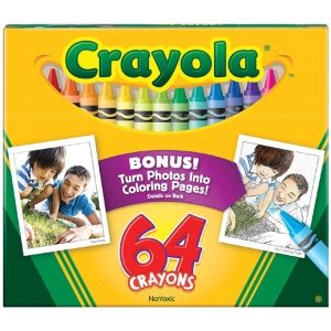Crayola® Original Crayons 64-Color: Multi, (model 52-0064), price per pack