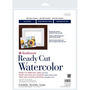 Strathmore® 500 Series Cold Press Ready Cut Watercolor Sheet Pack