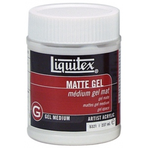 Liquitex® Matte Gel Medium 8 oz.: Satin, 8 oz, Gel, (model 5321), price per each
