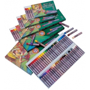 Cray-Pas® Expressionist® Oil Pastel 12-Color Set: Multi, Stick, Oil, (model XLP12), price per pack