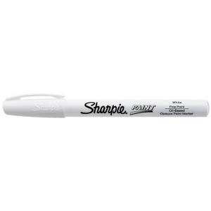 Sharpie® Oil Paint Marker Fine White: White/Ivory, Paint, Fine Nib
