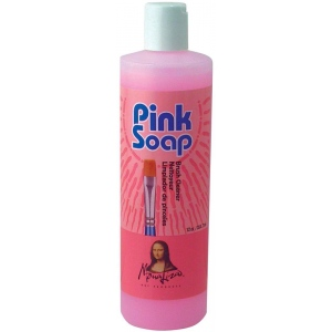 Mona Lisa™ Pink Soap Brush Cleaner 12oz: 12 oz, (model PS12), price per each