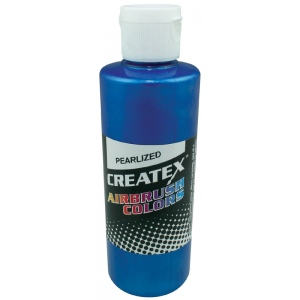 Createx™ Airbrush Paint 4oz Pearlescent Blue: Blue, Bottle, 4 oz, Airbrush