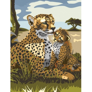 "Royal & Langnickel® Painting by Numbers™ 8 3/4 x 11 3/8 Junior Small Set Leopard: 8 3/4"" x 11 3/8"""