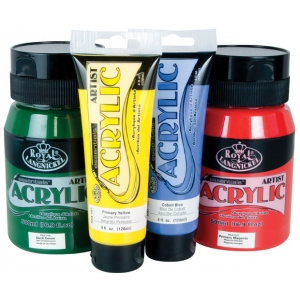 Royal & Langnickel® Essentials™ Acrylic Paint 4oz Cadmium Green: Tube, Acrylic, (model RAA-117), price per tube