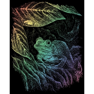 "Royal & Langnickel® Engraving Art Set Rainbow Foil Frog: 8"" x 10"", Multi, (model RAIN15), price per set"
