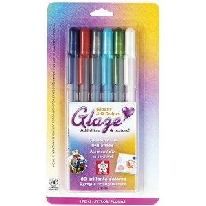 Glaze™ 3D Glossy Pen 6-Pack: Multi, Gel, Paint Pen, (model 38371), price per pack