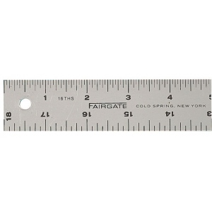 "Fairgate® 12"" Cork-Back Aluminum Ruler: Metallic, Aluminum, 12"", General Purpose"
