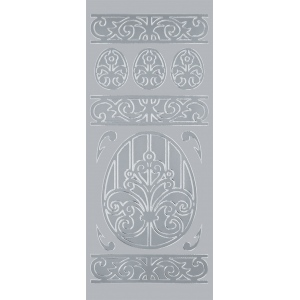 "Blue Hills Studio™ DesignLines™ Outline Stickers Silver #16: Metallic, 4"" x 9"", Outline, (model BHS-DL016), price per pack"