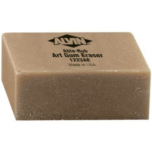"Alvin® 2"" x 1"" x 3/4"" Art Gum Erasers 12/Box: Gum, 12-Box, Manual, (model 1223AE), price per dozen (12-pack)"