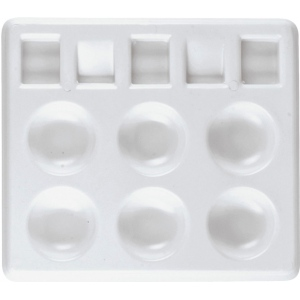"Heritage Arts™ Rectangular Plastic Palette Tray 5 x 4 1/4: Plastic, Rectangle, 5"" x 4 1/4"", (model CW157), price per each"