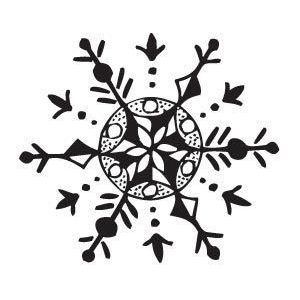 Sarasota Stamps Mounted Rubber Stamp Snowflake 1 : Rubber, Mounted