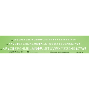 "Alvin® Lettering Template: 1/4"" = 1', 1/8"", 3/16"", (model TD112), price per each"