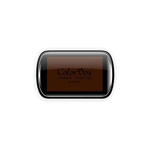 ColorBox® Full Size Ink Pad Brown: Brown, Pad, Pigment, Full Size Rectangle, (model CS15054), price per each