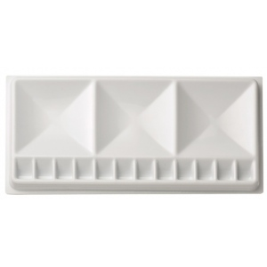 "Heritage Arts™ Rectangular Plastic Palette Tray 5 1/2 x 12: Plastic, 15 Wells, Rectangle, 5 1/2"" x 12"""