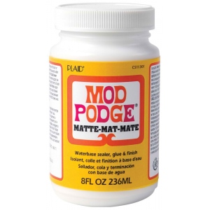 Mod Podge® Original Formula 8 oz. Matte: Matte, Bottle, 8 oz, (model PLCS11301), price per each