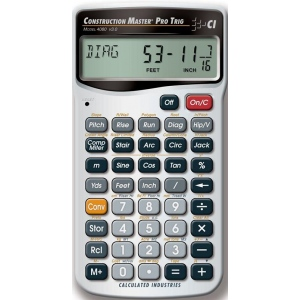 Calculated Industries® Construction Master® Pro Trig Calculator: Calculator, (model CA225), price per each