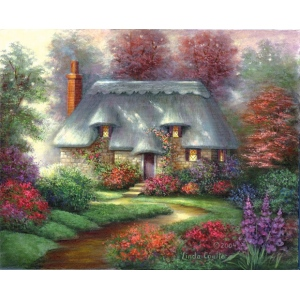 "Royal & Langnickel® Paint Your Own Masterpiece™ 11 x 14 Romantic Cottage: 11"" x 14"""