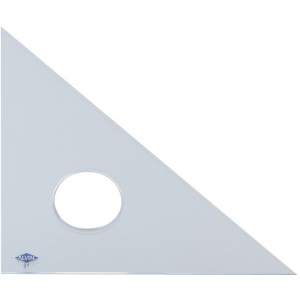 "Alvin® 12"" Clear Professional Acrylic Triangle 45°/90°: 45/90, Clear, Acrylic, 12"", Triangle, (model 131C-12), price per each"