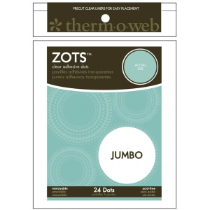 Therm O Web Zots™ Removable Single Adhesive Dots Jumbo: Clear, Glue, Round, (model TW3696), price per pack