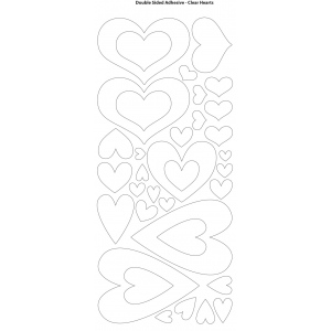 "Dazzles™ Double Stick Hearts: Black/Gray, 1 Sheet, Patterned, 4"" x 9"", Double-Stick, (model HOTP2039), price per each"