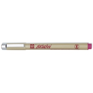 Pigma® Rose Brush Pen: Red/Pink, Pigment, Brush Nib, Brush Pen, (model XSDK-BR-21), price per each