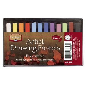 Heritage Arts™ Artist Drawing Pastels Essential 12-Color Set: Multi, Stick, Drawing, (model ADP12BP), price per set