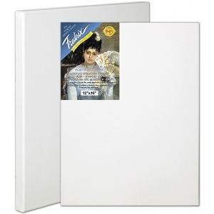 "Fredrix® Artist Series Blue Label 12"" x 24"" Blue Label Ultra Smooth Stretched Canvas: White/Ivory, Sheet, 12"" x 24"", 11/16"" x 1 9/16"", Stretched, (model T5617), price per each"