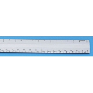 "Alvin® 260 Series 12"" White Plastic Flat Engineer Scale: White/Ivory, Plastic, 12"", Engineer, (model 261P), price per each"