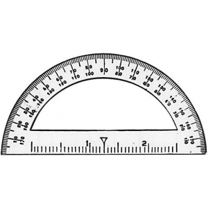 "Westcott® C-Thru® 3 1/2"" Mini Protractor: Clear, Vinyl, 3 1/2"", Protractor, (model 3751), price per dozen (12-pack)"