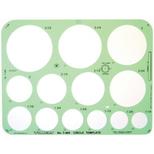 "Timely® Circle Template: 1 1/4"" - 3 1/2"", (model 404T), price per each"