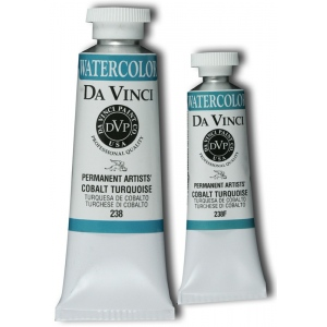 Da Vinci Artists' Watercolor Paint 37ml Cobalt Turquoise: Blue, Tube, 37 ml, Watercolor, (model DAV238), price per tube
