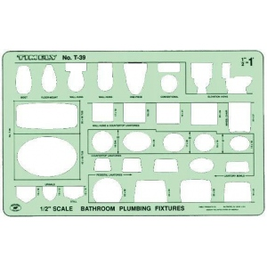 "Timely® Bathroom Plumbing Template: 1/2"", (model 39T), price per each"