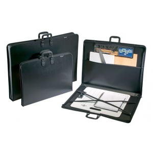 "Prestige™ Studio™ Series Art Portfolio 3"" Gusset 32"" x 42"": Black/Gray, 3"", Polypropylene, 32"" x 42"", (model PP3242-3), price per each"