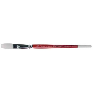"Winsor & Newton™ University Series 680 One Stroke Short Handle Brush 1 1/2"": Short Handle, Nylon, One Stroke, Acrylic, Oil, Watercolor"