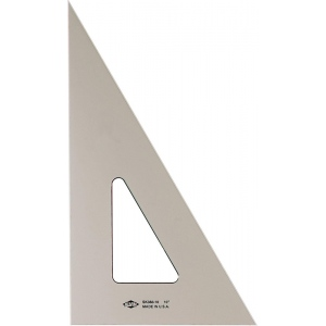 "Alvin® 10"" Smoke-Tint Triangle 30°/60°: 30/60, Black/Gray, Clear, Polystyrene, 10"", Triangle, (model SK360-10), price per each"