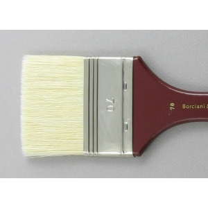 Hog Bristle Series 200: Wide Flat Size 70 Brush