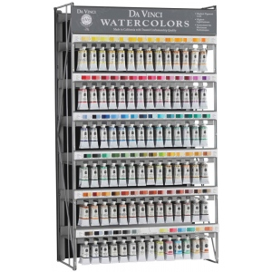 Da Vinci Artists' Watercolor Paint Display: (168) 15ml Tubes, 2 each of 84 Colors