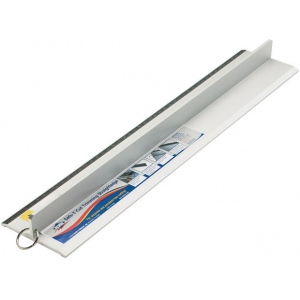 "Alvin® Safe-T-Cut 48"" Graduated Cutting Straightedge: Metallic, Aluminum, 48"", Straightedge"