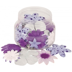 "Blue Hills Studio™ Irene's Garden™ Jar O'Blooms Purples: Purple, Paper, 2 1/2"", Dimensional, (model BHS807), price per each"