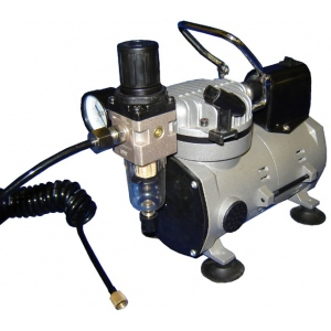 Silentaire Scorpion I-W Ultra-Quiet Airbrush Compressor, Portable Air Compressor