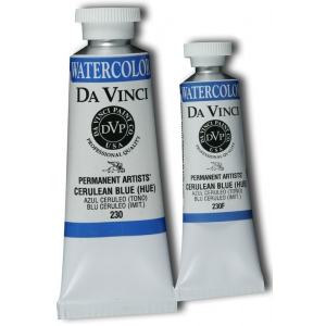 Da Vinci Artists' Watercolor Paint 37ml Cerulean Blue Hue: Blue, Tube, 37 ml, Watercolor, (model DAV230), price per tube