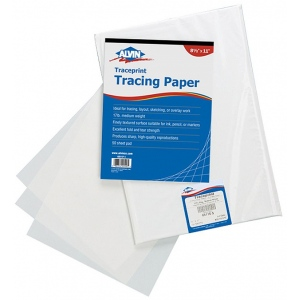 Alvin® Traceprint Tracing Paper 50-Sheet Pad