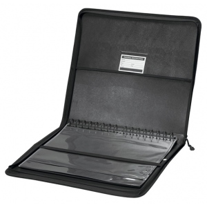 "Prestige™ Studio™ Series Presentation Case 14"" x 17"": Black/Gray, Polypropylene, 10 Pages, 10 Protective Sleeves, 14"" x 17"""