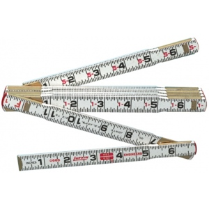 Lufkin® 6' Red End Folding Ruler: White/Ivory, Wood, 6', General Purpose, (model 1066D), price per each