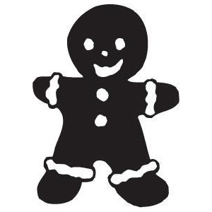 Sarasota Stamps Mounted Rubber Stamp Gingerbread Man : Rubber, Mounted, (model SSB-3076), price per each