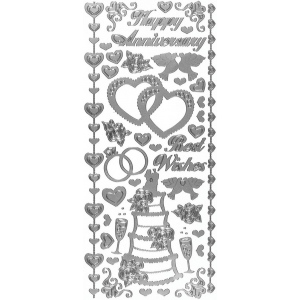 Dazzles Stickers Wedding & Anniversary Silver