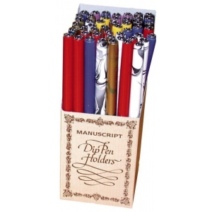 Manuscript Wooden Pen Holder Display