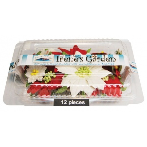 "Blue Hills Studio™ Irene's Garden™ Box O'Poinsettias Box O' Poinsettias 12PC/BOX: Red/Pink, White/Ivory, Paper, 1 1/2"", 2 1/2"", Dimensional, (model BHS107513), price per each"